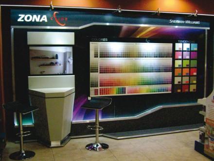 Exhibidor Modular con pantalla touch & iluminacion led